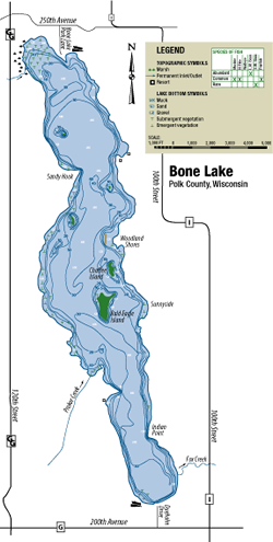 Bone Lake Management District - Map of northern wisconsin lakes